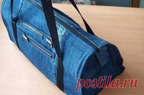 Сумка из старых джинсов. — Сделай сам, идеи для творчества - DIY Ideas