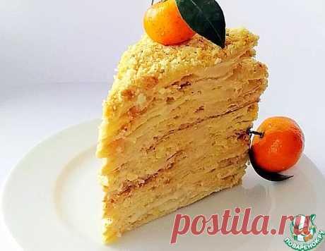 """Торт """"Наполеон"""" со вкусом крем-брюле – кулинарный рецепт"""