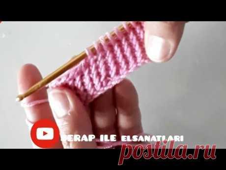 Tunusişi örgü tunusian #tigişi #stitch #tutorial #crochet #easy