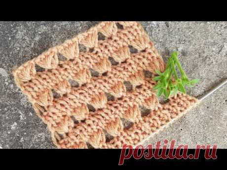 "Вяжем секционный узор ""Веера"" 🤷♀️ knitting pattern."