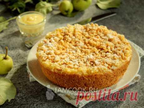 Тертый яблочный пирог с заварным кремом — рецепт с фото Рассыпчатый пирог с нежной текучей начинкой и яблочными кусочками станет вкусным десертом, а готовится из вполне привычных продуктов.