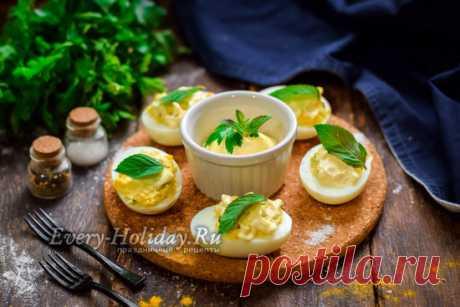Яйца, фаршированные печенью трески: очень вкусный пошаговый рецепт с фото
