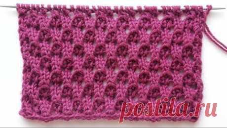 Фактурный ажурный узор с красивой обратной стороной для вязания свитеров, палантинов, жилеток