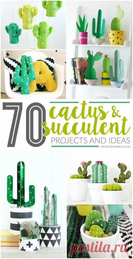 Easy DIY Home Decor Crafts: Cactus and succulents are a hot trend in home deco...