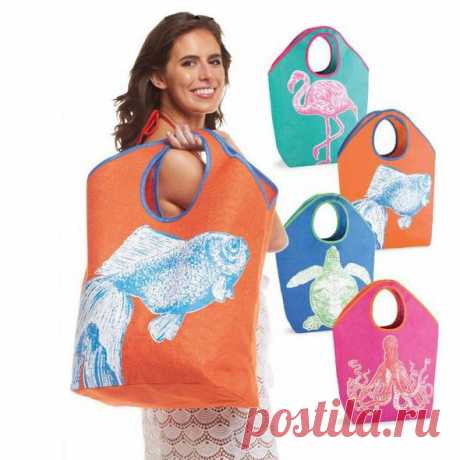 New Product! Mud Pie Beach Totes and Coolers — Trendy Tree