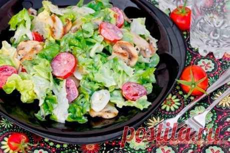 Салат с шампиньонами | 4vkusa.ru