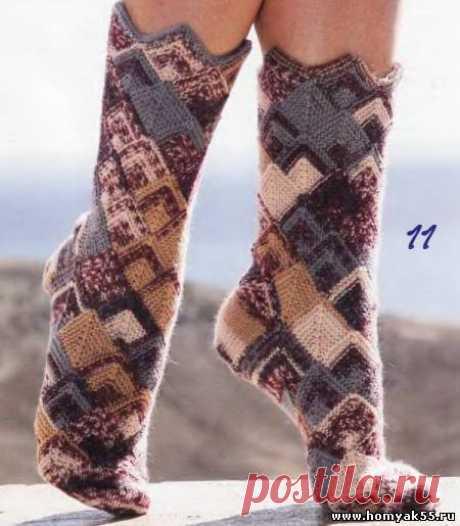 Носочки, тапочки для взрослых спицами » Страница 2 » «Хомяк55» - всё о вязании спицами и крючком