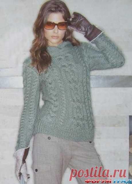Схемы свитер с аранами