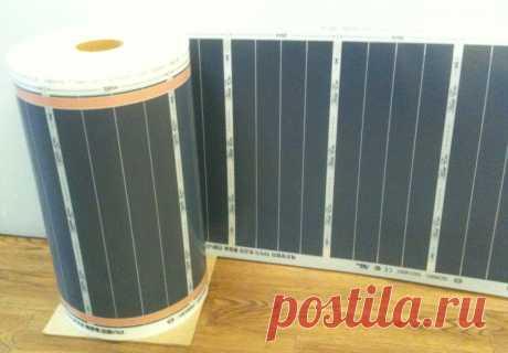Инфракрасная карбоновая греющая пленка Heat Eco Ultra (Ю.Корея) 260 Вт/м2, ширина 50 см