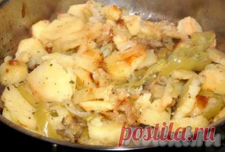 Картошка с болгарским перцем - 11 пошаговых фото в рецепте