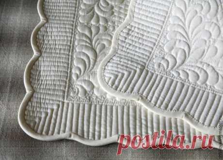 Шьём белую салфетку - Ярмарка Мастеров - ручная работа, handmade