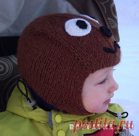"Детская шапочка-шлем ""Медвежонок"" | Семейный сайт Босятка"