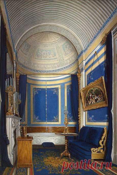 Interiors of the Winter Palace. The Bathroom of Grand Princess Maria Alexandrovna - Edward Petrovich Hau   Pinterest • el catálogo Mundial de las ideas