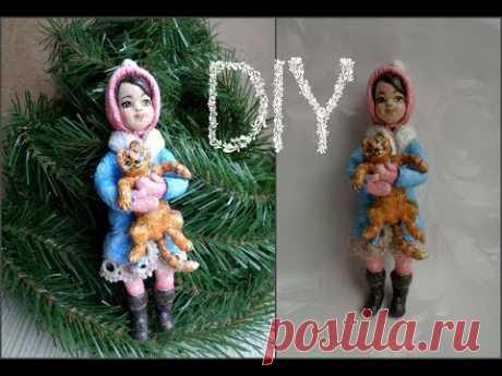 Куклы из ваты Это старинная технология использует вату и клей на основе крахмала.