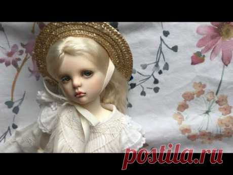 [bjd hat making] - a boater hat for ail mini daryl
