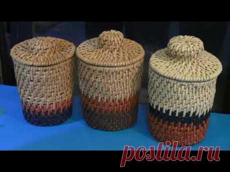 Бортик для крышки Корневое плетение из бумажных трубочек