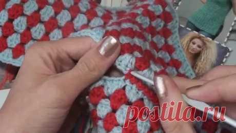 Как обвязать сидушку из бабушкиного квадрата. Вязание крючком для начинающих.: 3 тыс. видео найдено в Яндекс.Видео