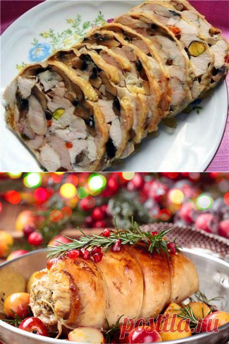 Что приготовить на Новый год 2018: мясной рулет с грибами - Smak.ua