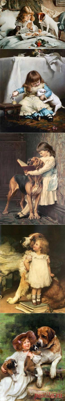 (+1) тема - Эмоции «по-человечески» Чарльз Бартон Барбер. | Искусство