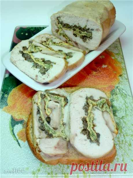 КУРИНЫЙ РУЛЕТ для праздничного стола или для бутербродов к завтраку