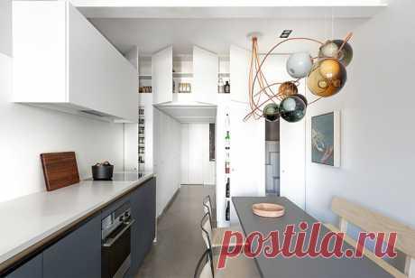 Дизайн-проект небольшого лофта, основанный на концепции минимализма и яркости — Lodgers - Дизайн интерьера