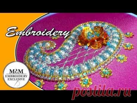 Embroidery  Beadwork Paisley  ||   Вышивка бисером Пейсли
