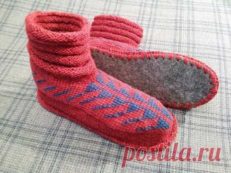 Носки на войлочной подошве | Вязание крючком. Ваши работы
