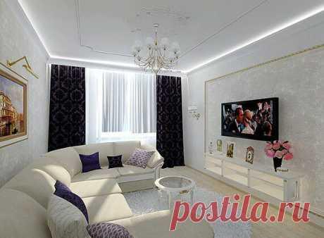 Гостиная Retro - дизайн-проект с фото - Недвижимость@Mail.Ru