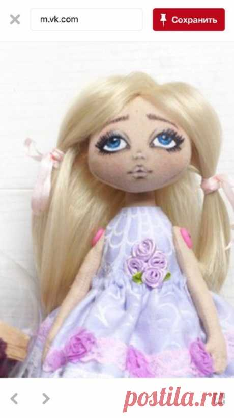 Выкройка куклы и платья