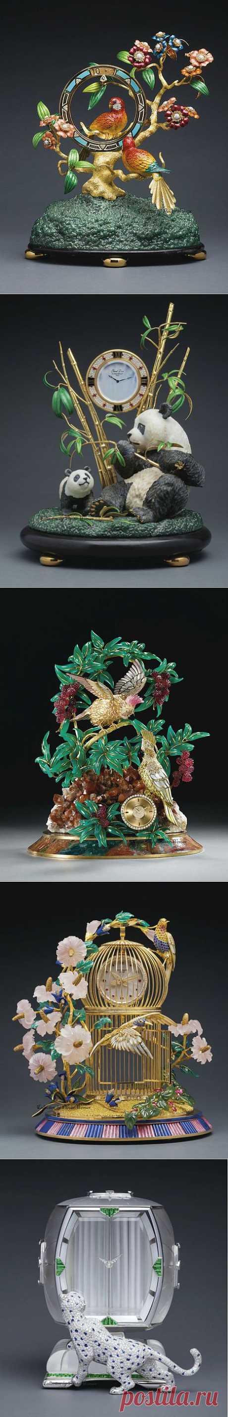 Декоративные часы 19 века. Антиквариат