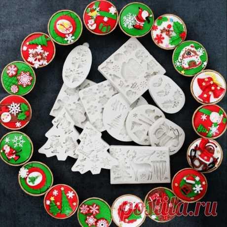 Молды для кондитерских изделий или для мыла Рождественская тематика 23 варианта ======================== https://s.click.aliexpress.com/e/r4HDU1as?product_id=..