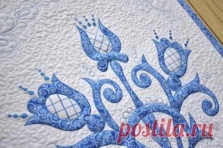Создаем текстильное панно в стиле «гжель» Со слов автора.Для многих слово «гжель» ассоциируется с гармонией, красотой и сказкой. Творить настоящие произведения искусства мастерам помогают богатая фантазия и любовь к своему делу.Особенной хар...