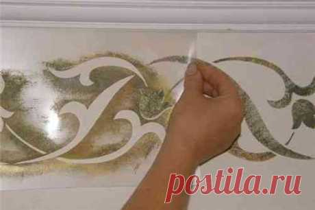 Трафареты для декора стен своими руками