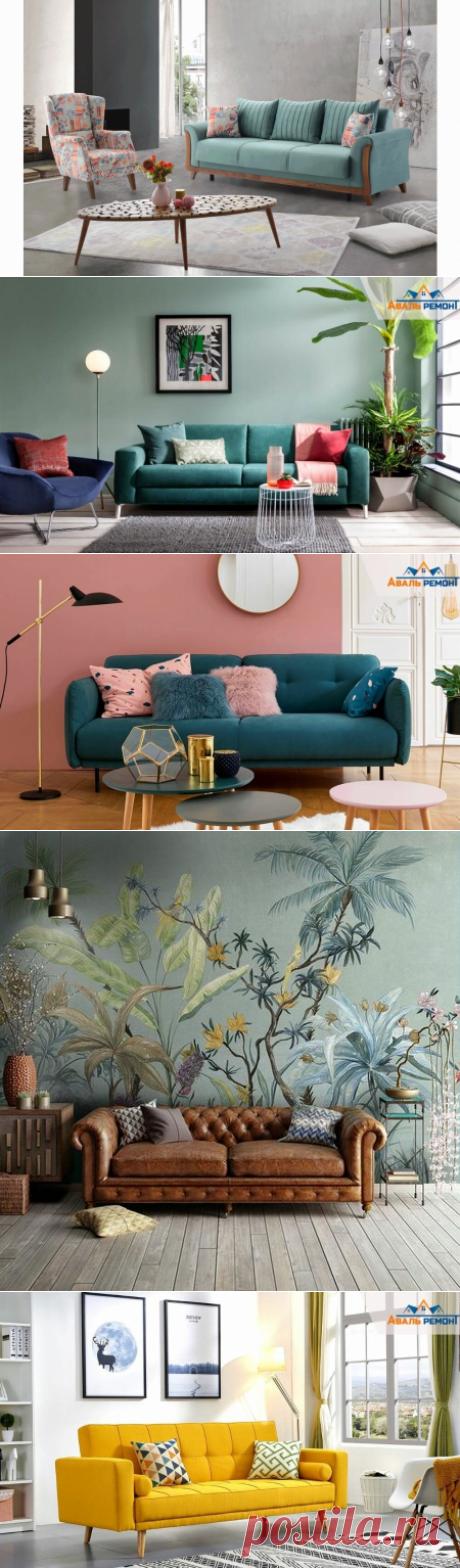 Часть-1. Диван – центральный элемент гостиной. Фишки, как вписать диван в интерьер? Смотреть фото...   Авальремонт   Яндекс Дзен