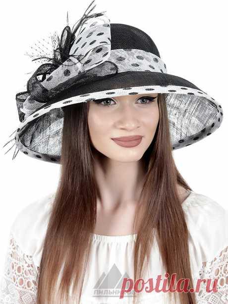 Шляпа Астра - Женские шапки - Из соломки купить по цене 3390 р. с доставкой в Интернет магазине Пильников