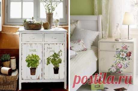 Декупаж мебели: интересные идеи для создания неповторимого образа вашего дома — Сделай сам, идеи для творчества - DIY Ideas