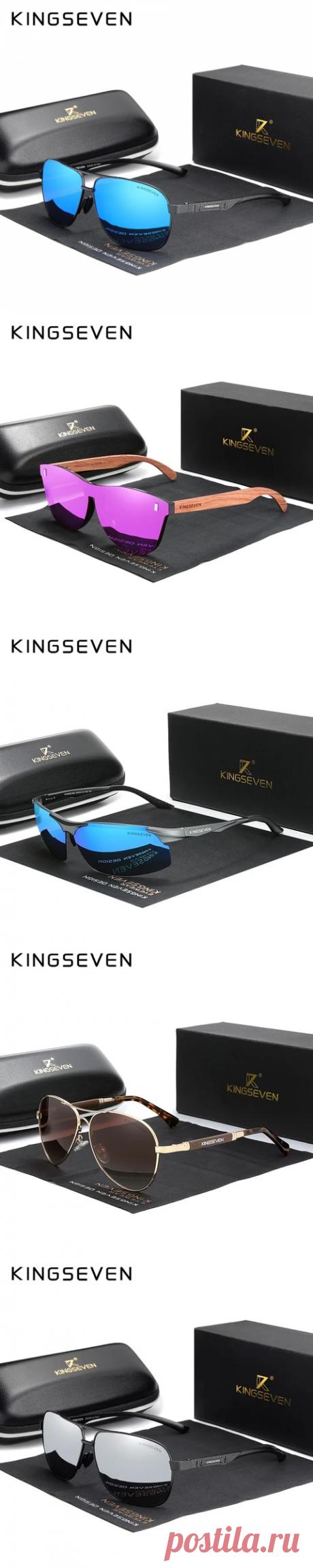 KINGSEVEN 2020 Брендовые мужские алюминиевые солнцезащитные очки поляризованные UV400 зеркальные Мужские солнцезащитные очки для женщин и мужчин Oculos de sol | Мужские солнцезащитные очки