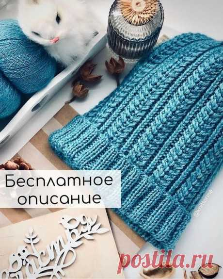 Красивая шапка спицами, Вязание для женщин