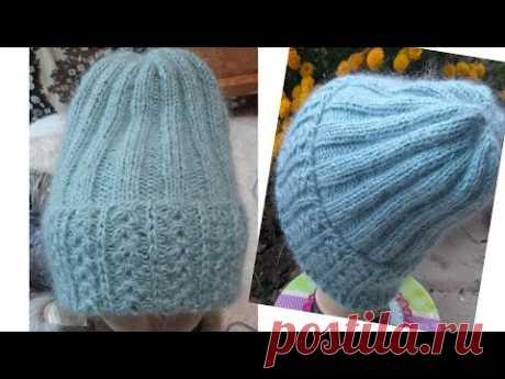 Тепла шапочка красивим узором.Модна шапка.