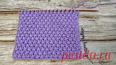 КРАСИВЫЙ Плотный Узор Спицами. Видео МК + Описание | Enjoy Knitting/Вяжем узоры | Яндекс Дзен