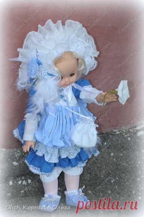 Шьем платье, чепчик, панталоны, колготки и тапочки для куклы.   Страна Мастеров