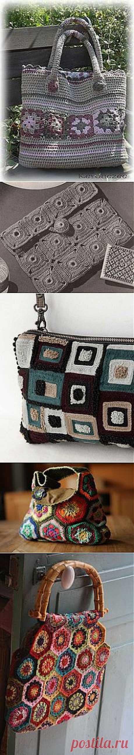 Bags, purses and etc. - squares and etc. в Pinterest