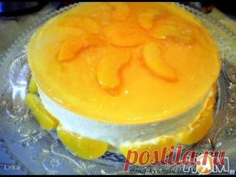 Медово персиковый торт с желе из муската Рецепт торта - YouTube