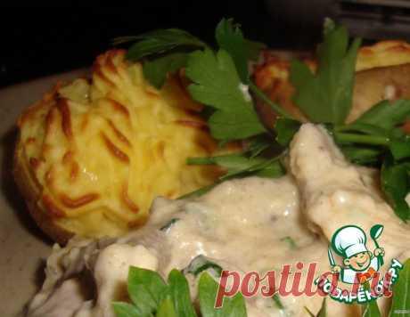 Мясо в сырно-горчичном густом соусе – кулинарный рецепт