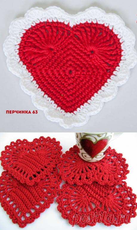 Прихватка *Сердечко* - Perchinka63