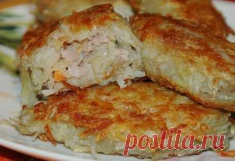 Как приготовить картофельные зразы с мясным фаршем - рецепт, ингредиенты и фотографии