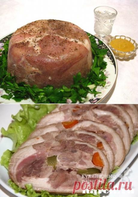 Очень хорошие рецепты приготовления сала, грудинки, окорока