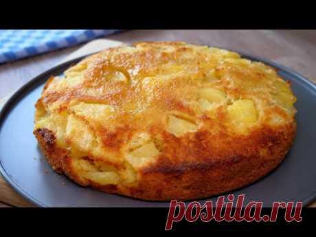 3 яблока и 10 минут на вкусный яблочный пирог 2.0 | новый вариант + надрез