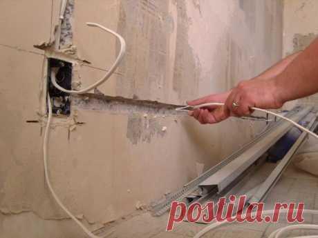 Ремонт стен и проводка: 5 уловок, которые нужно знать, чтобы не нажить себе проблем — Строительство и отделка — полезные советы от специалистов