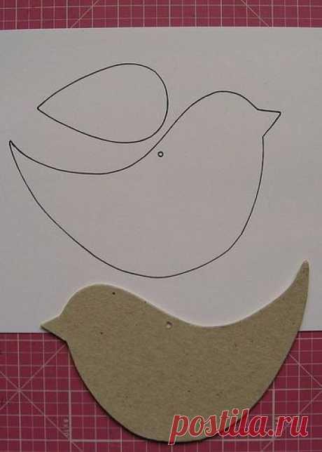 Выкройка декоративной птички для шитья